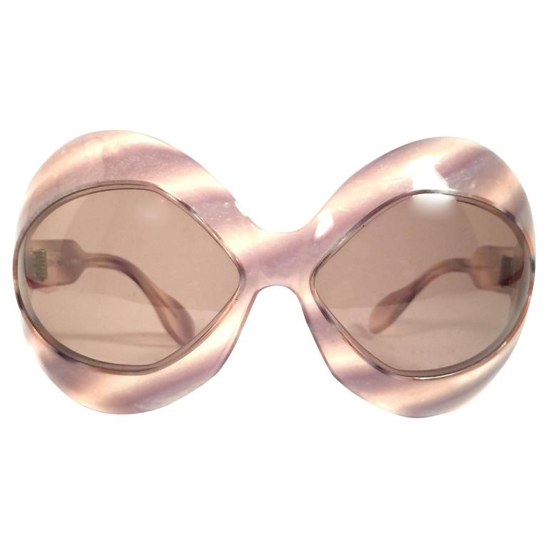 be614f018c99 New Vintage Pierre Marly Cocktail Oversized Avantgarde 1960 s Sunglasses  For Sale