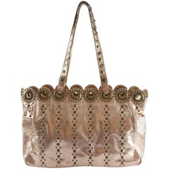 Isabella Fiore Rose Gold Leather Bag with Grommets