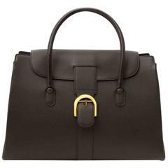 Delvaux Brown Brillant Cabriolet Bag