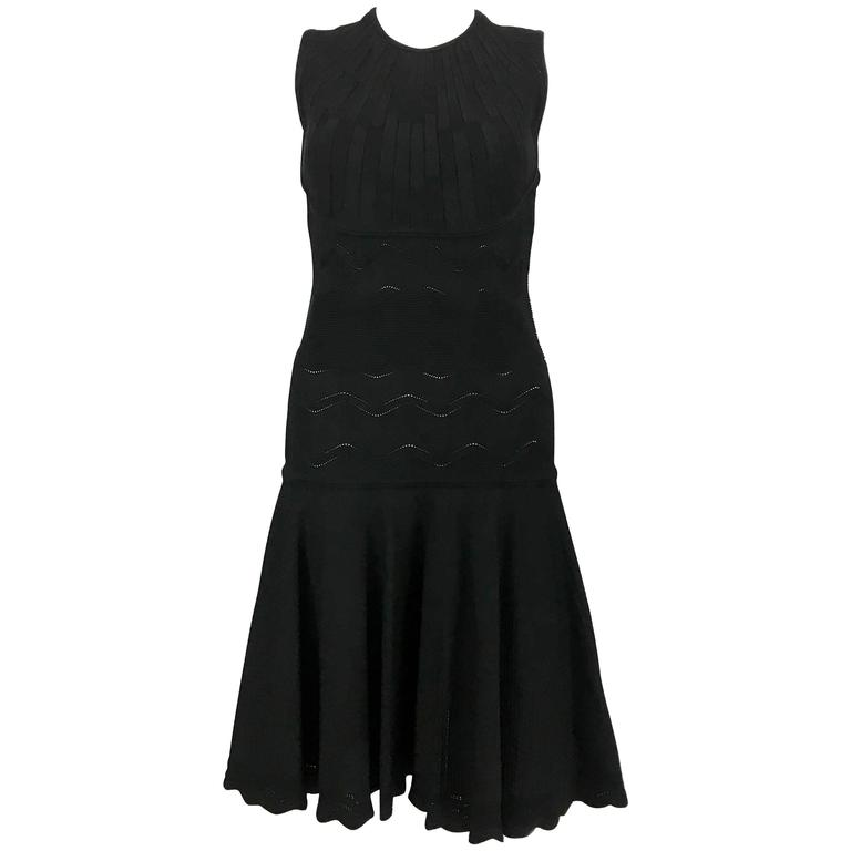 2010's Alexander McQueen Black Dress