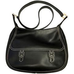 Roberta di Camerino Black Stitched Bag - 1970's