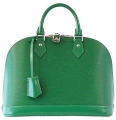 LOUIS VUITTON Bag Classic Alma Menthe Green Epi Leather