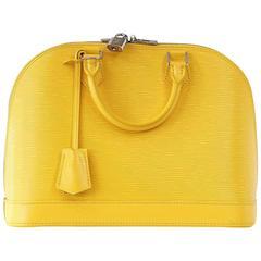 LOUIS VUITTON Bag Alma Citron Yellow Epi Leather