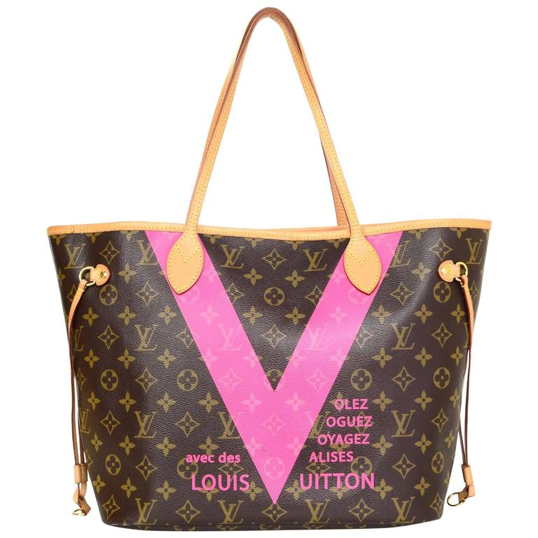 828e922179e0 Louis Vuitton Limited Edition 2015 Grenade Monogram V Neverfull MM Tote Bag  For Sale at 1stdibs