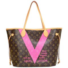 Louis Vuitton Limited Edition 2015 Grenade Monogram V Neverfull MM Tote Bag