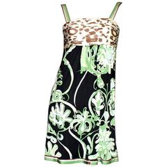 Emilio Pucci Silk Jersey Jungle Animal Print Dress