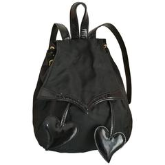 Christian Lacroix Black Hearts Backpack