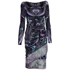 Breathtaking Emilio Pucci Signature Print Ombre Fringe Dress