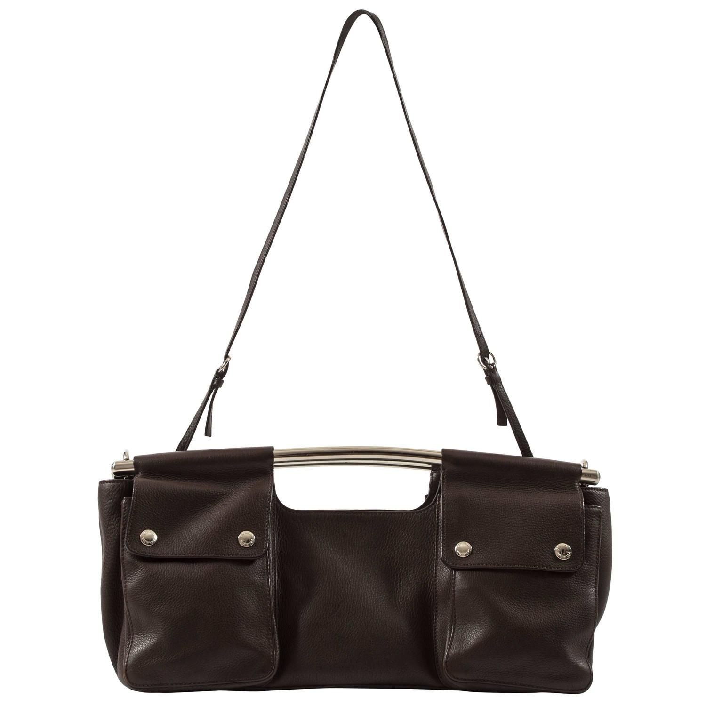 Prada Cognac Snakeskin Top Handle Satchel Evening Bag With Shoulder Strap Bag aqjJW3