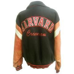Harvard Leather and Wool Collegiate Jacket ca 1980s