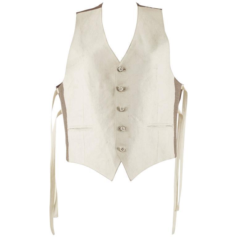 Maison Martin Margiela Spring-Summer 1993 oversized hand painted waistcoat