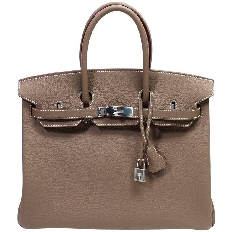 Hermès Etoupe Togo 35 cm Birkin Bag with Palladium Hardware 1