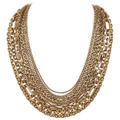STEPHEN DWECK Bronze Multistrand Chain Necklace