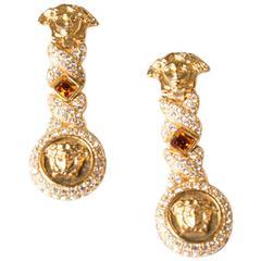 Vintage Gianni Versace Medusa Head Earrings As Worn by Rihanna