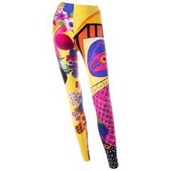 Gianni Versace Pop Art Print Leggings