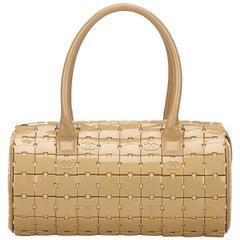 Chanel Beige PVC Puzzle Block Handbag