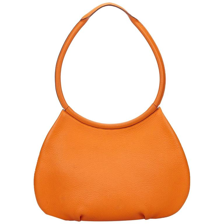 Hermes Orange Orange Cacahuete Shoulder Bag For Sale