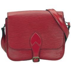 Louis Vuitton Red Epi Cartouchiere Shoulder Bag