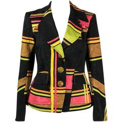 1990s Christian Lacroix multicoloured jacket