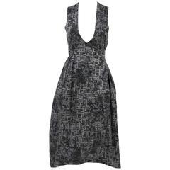 1980s Sue Clowes Cotton Wrap-Around Dress