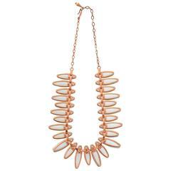 "11950s Matisse-Renoir Copper ""Aztec"" Geometric Necklace"