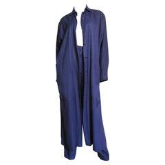 Alaia Purple Coat and Pant Suit 1990s