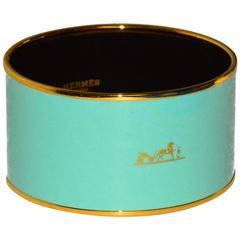 Pop of Color! Hermes Enamel Wide Bangle