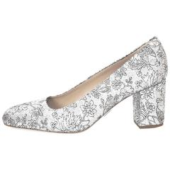 Michael Kors Gigi Silver Metallic Brocade Pumps Sz 41