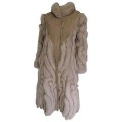 Vintage Design Fox Fur Coat