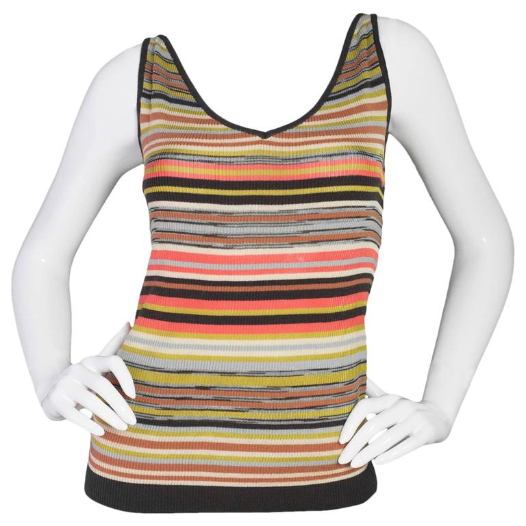 M Missoni Multi-Color V-Neck Top Sz 40 1