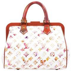 "Louis Vuitton LE ""Aquarelle"" Print Frame Speedy Bag"