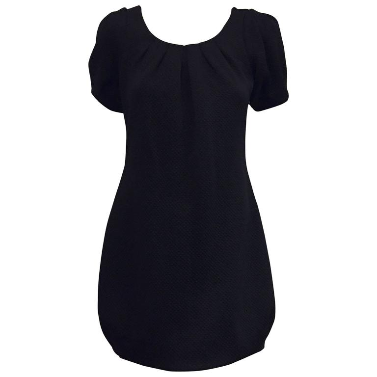 Fabulous Anne Fontaine's Little Black Dress with Puffy Short Sleeves.