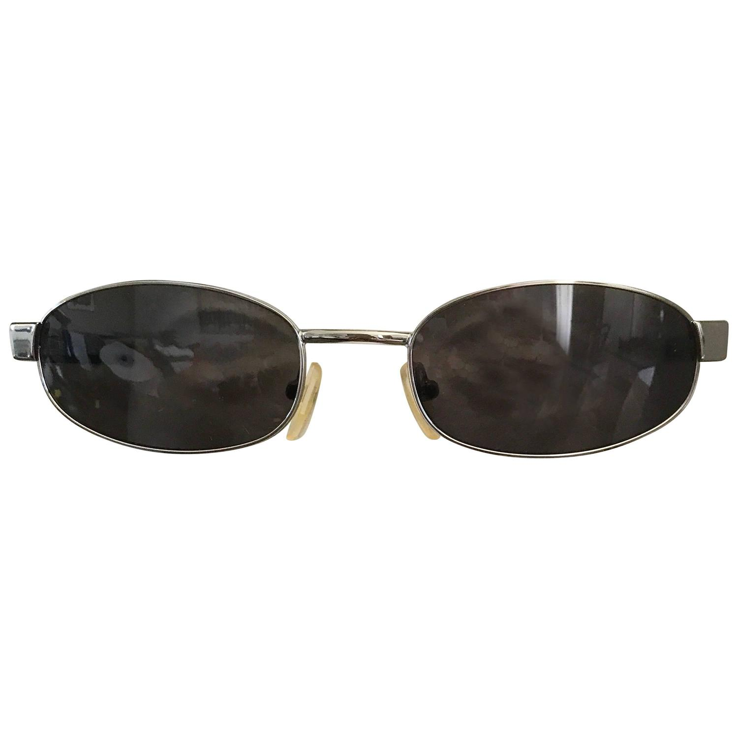 4793ccdb749a Tom Ford for Gucci Unisex 1990s GG 1640 S Black Nickel Vintage Oval  Sunglasses