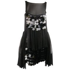 CHRISTOPHER KANE FW 2008 2 Payette Sequin Chiffon Ruffle A Line Cocktail Dress