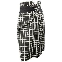 DRIES VAN NOTEN Size 6 Black & White Straight Pencil Skirt