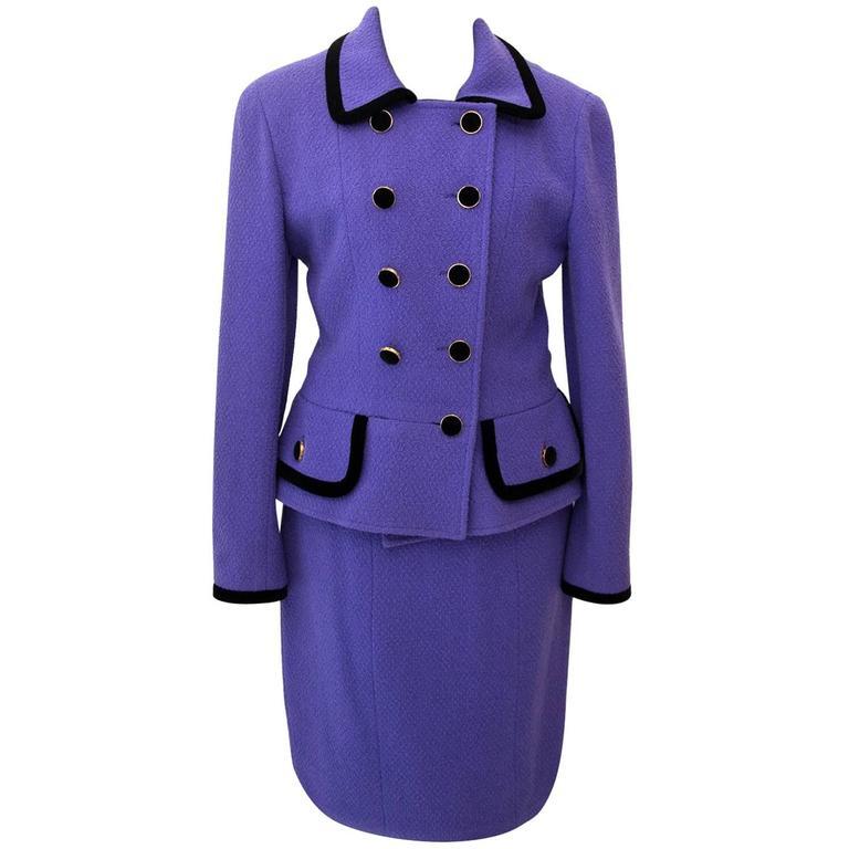 Chanel Purple Tailleur Set