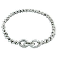 Hermès Vintage Silver Torsades Necklace