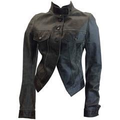 Patricia Pepe Leather Moto Button Jacket