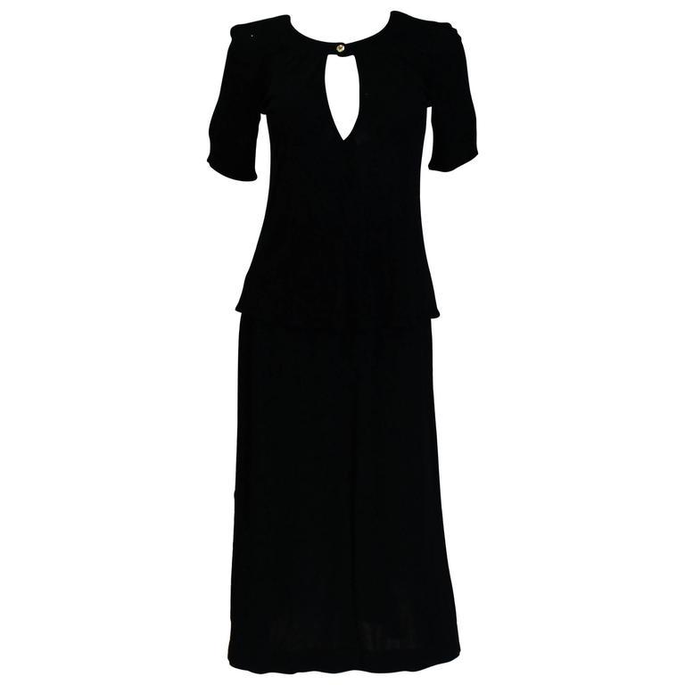 Jean Muir Navy Blue Skirt and Top