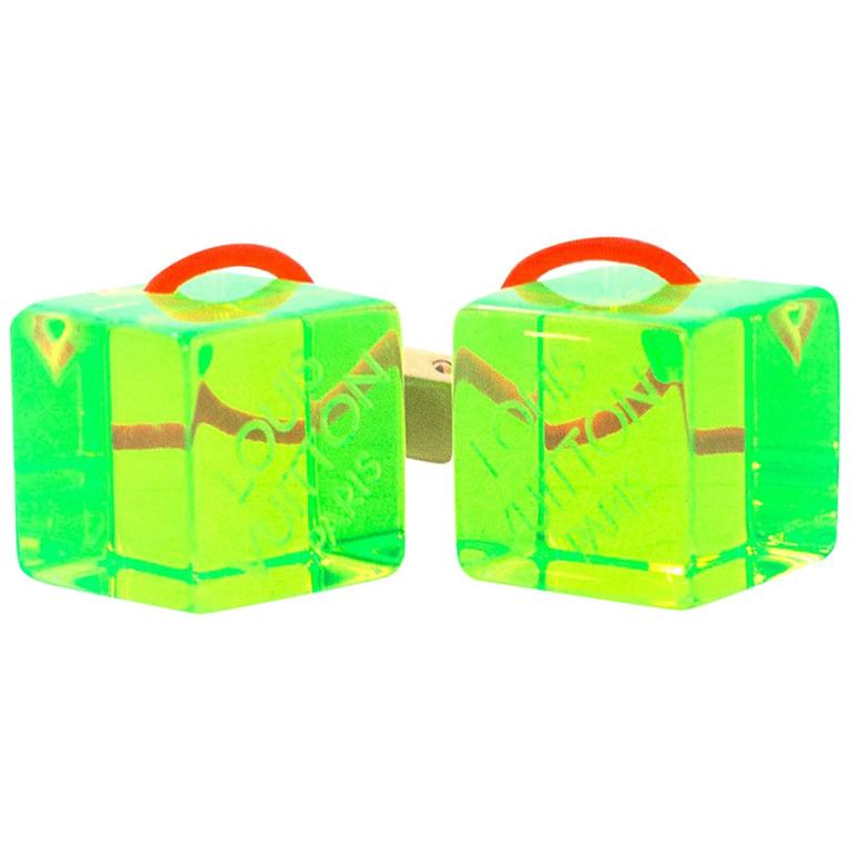 Louis Vuitton Green Hair Cubes For Sale
