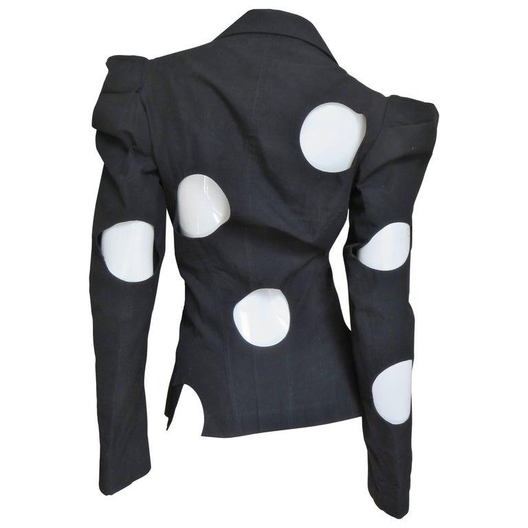 1990S Yohji Yamamoto Jacket with Circle Cutouts