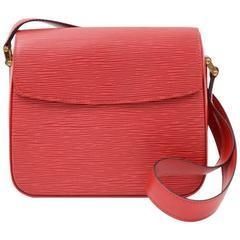 Louis Vuitton Byushi Red Epi Leather Shoulder Bag