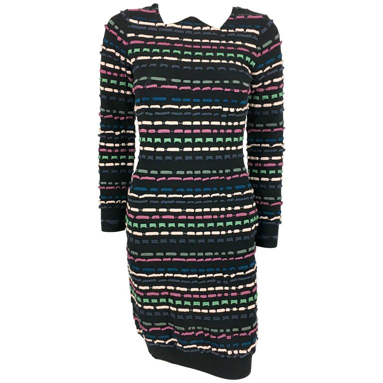 2010's Missoni Multi-Coloured Striped Black Dress