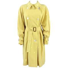 1980s Hermès yellow Raincoat