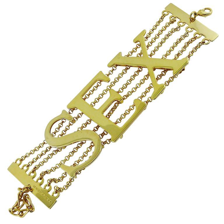 Dolce & Gabbana Iconic Runway Sex Bracelet Spring-Summer 2003 1