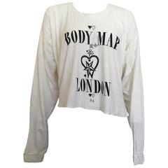 Bodymap 1984 Irregular Fit T Shirt Punk London Small
