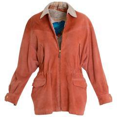"1990s Hermès ""Christophe Colomb"" Suede Parka Jacket"
