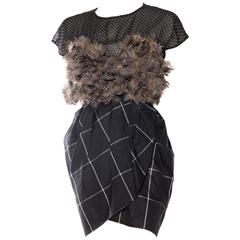 Very Finely Made Geoffrey Beene Feathered Dress