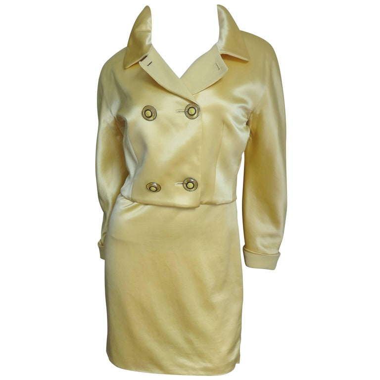 1980s Gianni Versace Silk Dress & Jacket