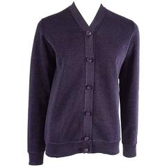 Louis Vuitton Purple Metallic Cardigan with Rhinestone Buttons – S